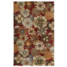Jaipur Rugs Blue Blossom BL21 Red Area Rug   http://www.arearugstyles.com/jaipur-rugs-blue-blossom-bl21-red-area-rug.html