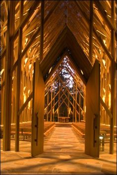 The Anthony Chapel At Garvan Woodland Gardens In Hot Springs Arkansas