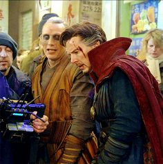 behind the scenes - Dr Strange - Benedict Cumberbatch and Mads Mikkelsen