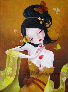 Geisha art by Sybile