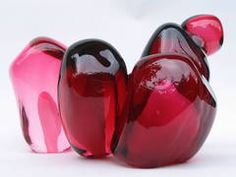 Catherine Vamvakas' blown/sculpted glass pomegranate seeds, made several years ago.   For sale through Canadian Galleries.  #fineart #CatherineVamvakas