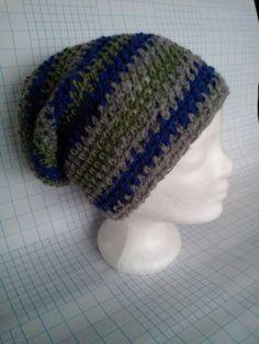 Boshi Frodo Gray Blue and Khaki Blue Grey, Gray, Crochet Hats, Beanie, Ash, Beanies, Grey, Repose Gray, Beret