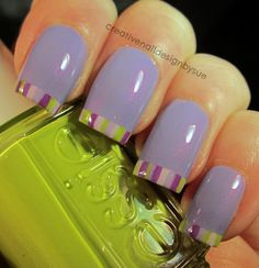 Creative Nail Design by Sue: Essie Fun French Nails Only, Love Nails, How To Do Nails, Pretty Nails, Nail Polish Designs, Acrylic Nail Designs, Nail Art Designs, Creative Nail Designs, Creative Nails