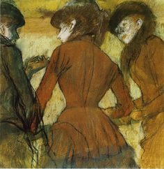 "Edgar Degas ""Three Women at the Races"""