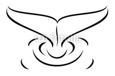 whale tail tattoo | Vector: A tribal whale tail tattoo