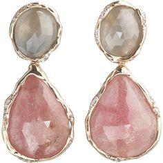 Lucifer Vir Honestus Sapphire & Diamond Double Drop Earrings