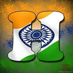 Independence day indian alphabet flag letter S tiranga ...
