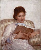 The Reader by Mary Cassett (1877), American artist.