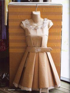 Cardboard Dress-GreenCraftcardboarddress