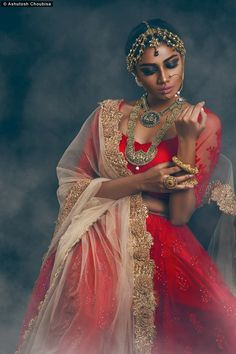Model : Sauraseni Maitra #fashionmodel #fashionbide #smoke #redbridaldress…