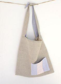 Linen Tote Bag shopping bag