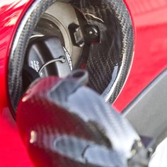 Carbon Fiber Fuel Filler Trim for MINI Cooper. Designed for R55-R59 models.