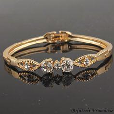 Bratara cristale, perle, placata cu aur, argint Reduceri 50% doar pana pe 30 oct. http://www.bijuteriifrumoase.ro/