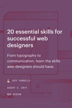 From typography to communication, learn the skills web designers should have. Web Design Tips, Tool Design, Design Tutorials, Design Layouts, Flat Design, App Design, Email Design, Website Design Inspiration, Web Designer Skills