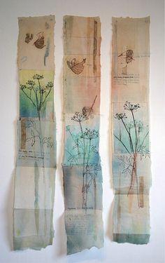 Buy Cas Holmes Cicuta Virosa paper on paper. It shows: nature, . Buy Cas Holmes Cicuta Virosa paper on paper. It shows: nature, relevant for: paper, print, engravin Free Motion Embroidery, Paper Embroidery, Embroidery Patterns, Floral Embroidery, Textile Fiber Art, Textile Artists, Fine Art Textiles, Cas Holmes, Tea Bag Art