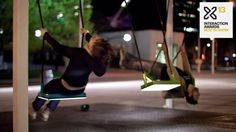 21 Balançoires (21 Swings). 21 Swings Exercise in musical cooperation  Every spring, an interactive installation takes over a high-traffic a...