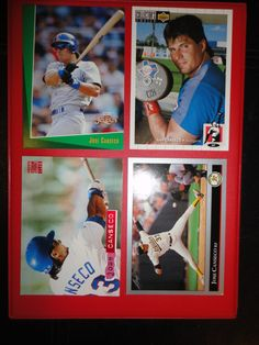 ** 4 OLD Jose Canseco Baseball Cards **