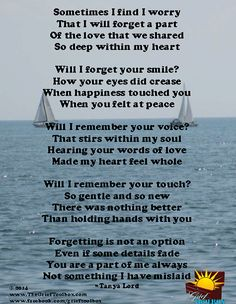 Forgetting is not an option - A Poem