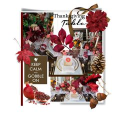 """""""Thanksgiving Jewel-tone Decor"""" by maranella ❤ liked on Polyvore featuring interior, interiors, interior design, home, home decor, interior decorating and thanksgivingtable"""