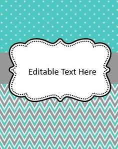 Editable Binder Cover Freebies | Print Perfect | Pinterest