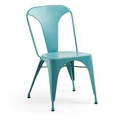 BROOKLYN LOFT Bistro Stuhl - Lounge Esszimmer Küche - Art Deco Design - Café, Restaurant oder Bistro Stuhl - Stapelbar in verschiedenen Farben - Höhe 85 - Sitzhöhe 45 cm - Länge 44 cm - Breite 53 cm - 6,8 kg Türkis