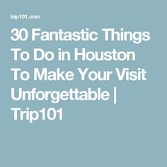 30 Fantastic Things To Do in Houston To Make Your Visit Unforgettable | Trip101