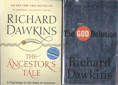 Richard Dawkins X2 God Delusion Ancestor's Tale atheism evolution