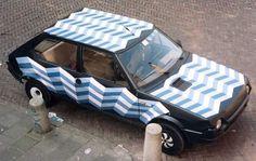 Fiat Ritmo Art Car By Patricia Van Lubeck