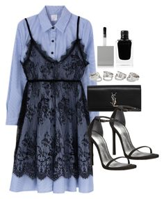 """""""Sin título #13209"""" by vany-alvarado ❤ liked on Polyvore featuring Yves Saint Laurent, Stuart Weitzman and Givenchy"""