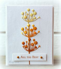 luv how three die cuts are stacked, shaded and given a coat of glossy accents on the flower circles...
