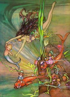 Mermaids and merbabies.  By Peg Maltby