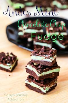 Andes Mint Chocolate Chip Fudge