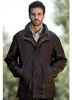 Men's Salem Lambskin Leaver Jacket with Shearling Collar from Overland.com - SEE IT HERE - http://www.perfect-gift-store.com/best-winter-jackets-for-men.html #mensjacket #menswinterjackets