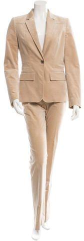 Gucci Velvet Wide-Leg Pantsuit