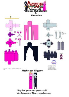 Princess Bubblegum Y Marceline Papercrafts by Niggayo.deviantart.com on @deviantART