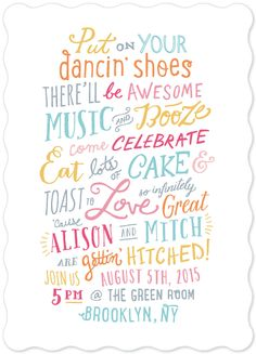 'Gettin' Hitched' wedding invite by Hooray Creative