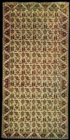 Bird Ushak rug, Western Turkey. XVI-XVII centuries. Museo Nazionale del Bargello, Florence