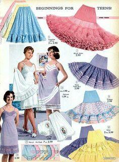 50s crinoline petticoats slips