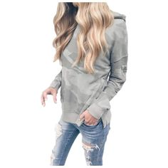 Cromoncent Womens Loose Fit Warm Faux Fur Fuzzy Hooded Pullover Sweatshirt