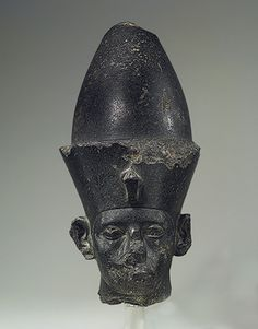 Head of Amenemhat III, Middle Kingdom, Dynasty 12, reign of Amenemhat III, ca. 1859–1813 B.C. Egyptian