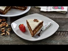 Prajitura cu morcov fara zahar (CC Eng Sub) Sugar Free Carrot Cake, Sugar Free Desserts, No Cook Desserts, Healthy Cookies, Healthy Sweets, Raw Food Recipes, Cooking Recipes, Weight Watchers Desserts, Something Sweet