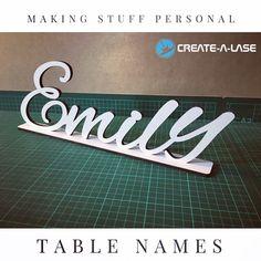 Laser Cut MDF Wood Table Names