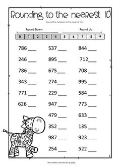 Rounding Numbers. Round Two, Three and Four Digit Numbers to the nearest ten and Nearest Hundred with this fantastic worksheet set.