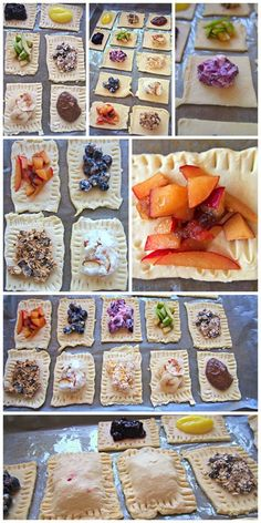 Light, homemade Poptarts with REAL FRUIT: fun slumber party breakfast...Kids could create their own.