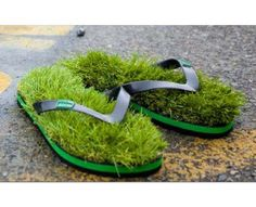 grassy flipflops and other CRAZY shoe ideas!!