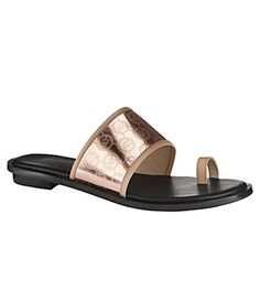 rose gold toe ring sandal