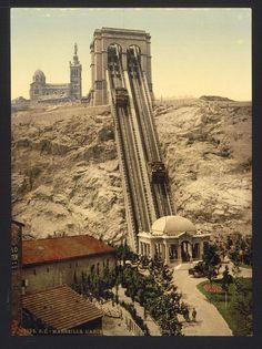 Cable railway, Marseilles, France. ca. 1890-1900