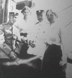"Grand Duchesses Maria and Olga Nikolaevna Romanova of Russia and crew of the Imperial Royal yacht. ""AL"""