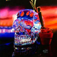 Skull oil painting!