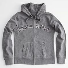 women's personalized varsity letter hoodie
